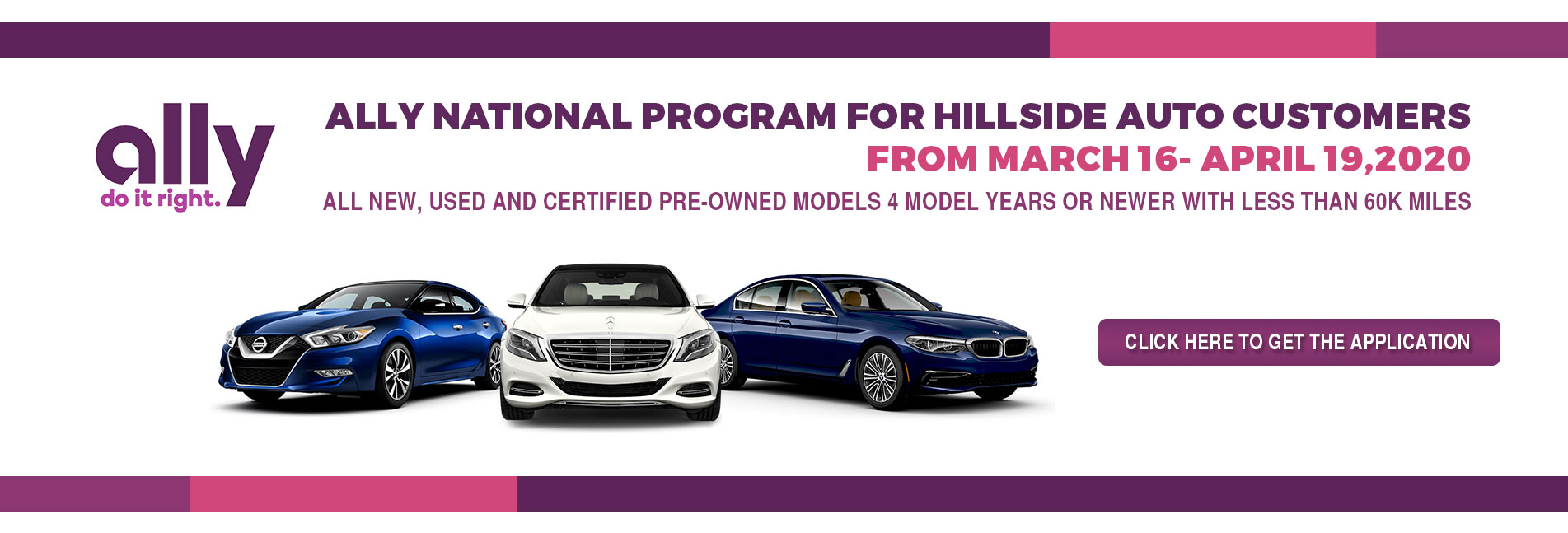 Ally National Program For Hillside Auto Customers